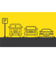 Zone parking vector image