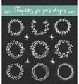 Chalkboard set of floral wreathes vector image