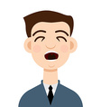Cough icon Cough man vector image