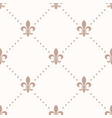 fleur de lis sign and dot seamless pattern vector image