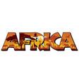 africa word mark logo vector image