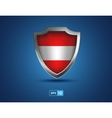 Austria shield on the blue background vector image vector image