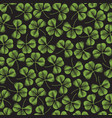 background pattern with clover with three leaf vector image