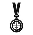 basketball gold medal icon simple style vector image vector image