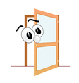 big eye and open door art vector image vector image