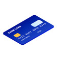 blue credit card icon isometric style vector image