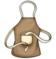 Brown apron vector image vector image