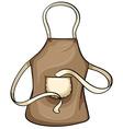 Brown apron vector image