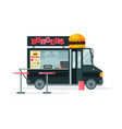 burgers food truck street meal van fast food vector image