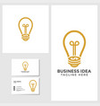 business idea logo template with business card vector image