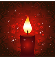 Candle Valentines Day background or card vector image vector image