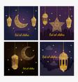 cards eid al adha mubarak happy sacrifice feast vector image vector image
