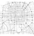 city map beijing in black and white vector image