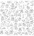 clothes items on white background seamless pattern vector image vector image