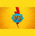 comic bright vs concept vector image vector image