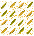 corn maize seamless pattern realistic vector image vector image