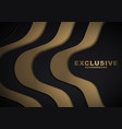 dark abstract background with luxurious gold color vector image vector image