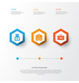 drug icons set collection of drug chest retreat vector image vector image