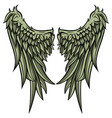 eagle wings vector image vector image