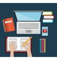 education online concept digital blue blackground vector image
