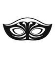 festive mask icon simple style vector image vector image