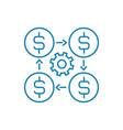 financial manager linear icon concept financial vector image vector image