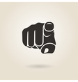 finger pointing vector image vector image