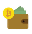 flat design bitcoin currency vector image vector image