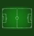 football field soccer field on blackboard green vector image