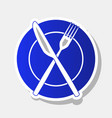 fork knife and plate sign new year vector image vector image