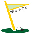 Golf Hole In One vector image