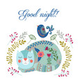 good night art colorful with vector image vector image