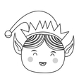 happy cute christmas elf icon vector image vector image
