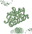 happy easter hand sketched lettering vector image