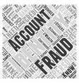 identity theft and fraud alert Word Cloud Concept vector image vector image