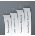 Infographics 4 options paper stripe banners with vector image vector image