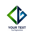initial letter cg logo design template element vector image vector image