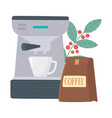 international day coffee machine package cup vector image vector image