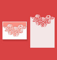 laser cut envelope template for invitation vector image vector image