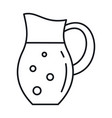 milk in jug in line style isolated vector image vector image