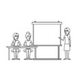 monochrome background with pair of women sitting vector image vector image