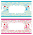 newborn set bannerstwo colors for boys and girls vector image