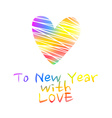 NY2016 Color Heart vector image vector image