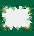 oliday background with exotic palm leaves and vector image vector image