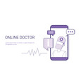 online doctor healthcare mobile application vector image