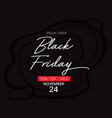 paper cut art style of black friday day sale vector image