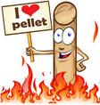 pellet cartoon vector image vector image