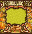 placard for thanksgiving day vector image vector image
