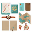 planning traveling ready for journey set vector image