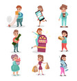 popular bad habits and addictions of modern vector image vector image